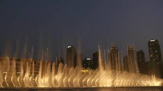 Dubai Fountain Show 17 August 2016   4K Resolution Canon Camera