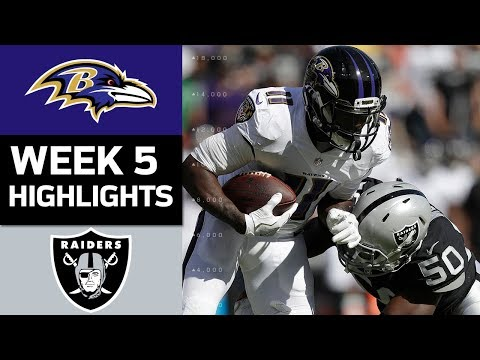 Ravens vs. Raiders | NFL Week 5 Game Highlights