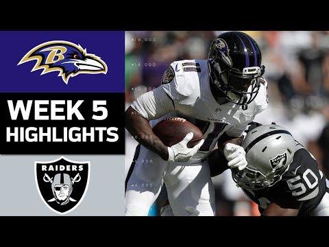 Ravens vs. Raiders | NFL Week 5 Game Highlights