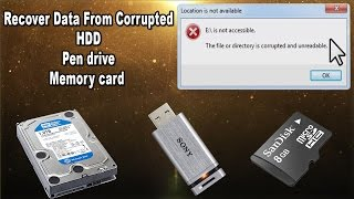 Recover Data From Corrupted HDD Pen drive Memory Card in Tamil | Network Green Live