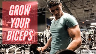HOW TO GET BIG BICEPS FOR SKINNY GUYS | GROW YOUR BICEPS