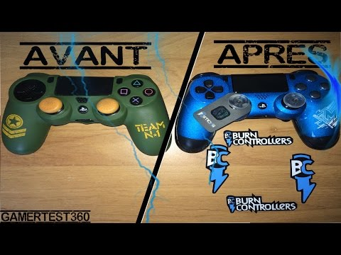 Download video unboxing 2 manette burn controllers for Housse manette ps4