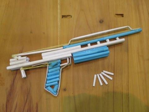 How to Make a Paper Gun that Shoots - (Machine Gun) - GTa Weapon