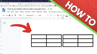 How to Put Two Tables Side by Side in Google Docs