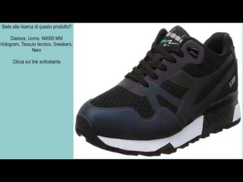 Diadora, Uomo, N9000 MM Hologram, Tessuto Tecnico, Sneakers, Nero