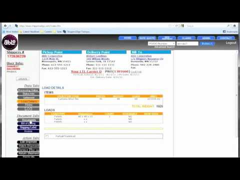 ShippersEdge TMS Shipping & Logistics Software - Tracking (Old Version)