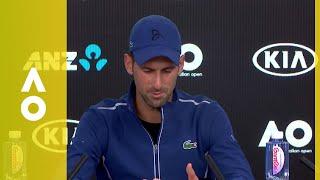 Novak Djokovic's emotional press conference (4R) | Australian Open 2018