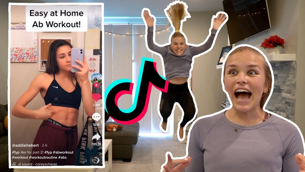 TRYING THE MOST POPULAR WORKOUT ROUTINES ON TIKTOK | holy heck was i NOT prepared