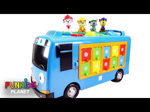 Thumbnail: Learn Colors Videos for Children: Paw Patrol Skye and Chase Tayo the Little Bus Pop up Surprise Pals