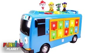 Learn Colors Videos for Children: Paw Patrol Skye and Chase Tayo the Little Bus Pop up Surprise Pals