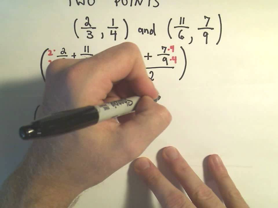 the midpoint formula finding the midpoint youtube