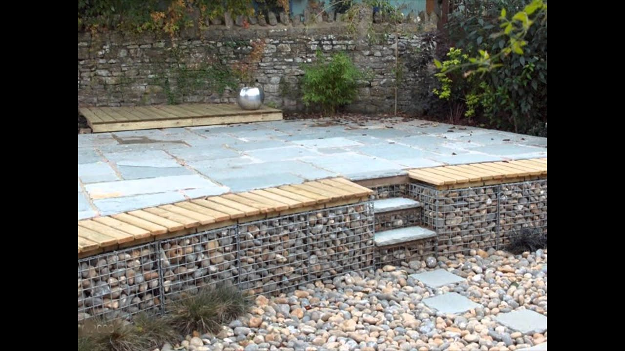 Gabion1 Retaining Walls Ideas   YouTube