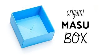 Easy Origami Masu Box Tutorial - Easiest Method - Paper Kawaii