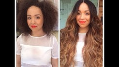 MUST WATCH!Rihanna Omrbe Lace wig install Before & After