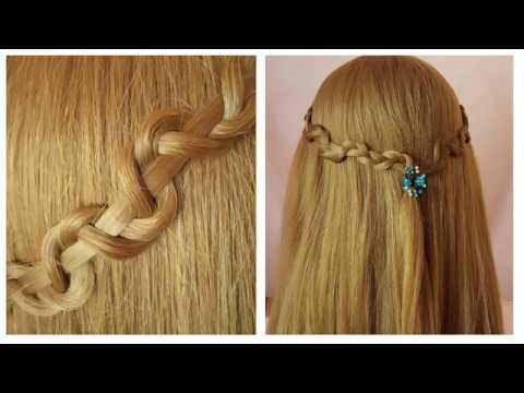 КРАСИВАЯ прическа в школу на средние волосы | Коса змейка | Красивые прически