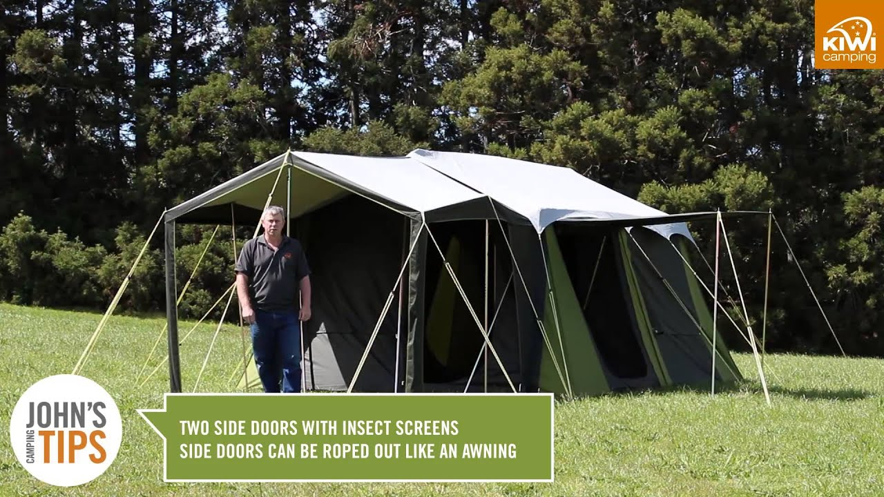 & Kiwi Camping Falcon Canvas Tent Series - Key Features - YouTube