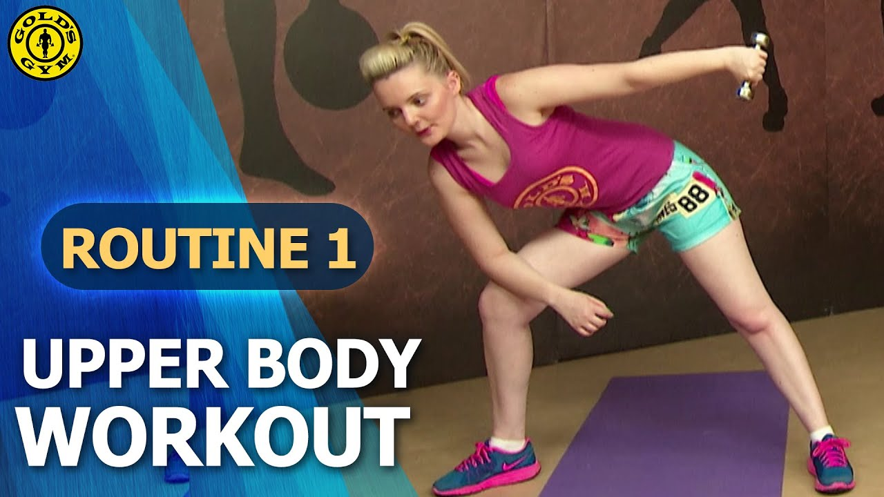 Gold s gym at home workouts routine upper body