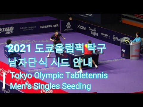 Download 도쿄올림픽 탁구 남자단식 시드 안내 2021 Tokyo Olympic tabletennis Men's Singles Seeding