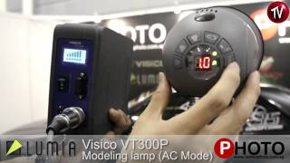 Visico Portable Strobe VT-300P w Lumia two layer umbrella
