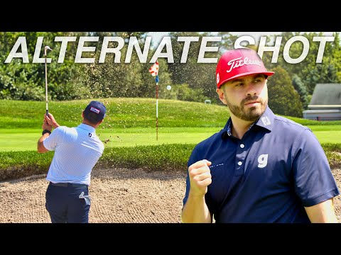 ALTERNATE SHOT ⛳️ At Fox Hollow Golf Club | CAN WE BREAK 85?