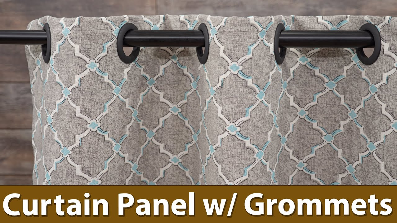 How to Sew a Curtain Panel With Grommets - Any Size
