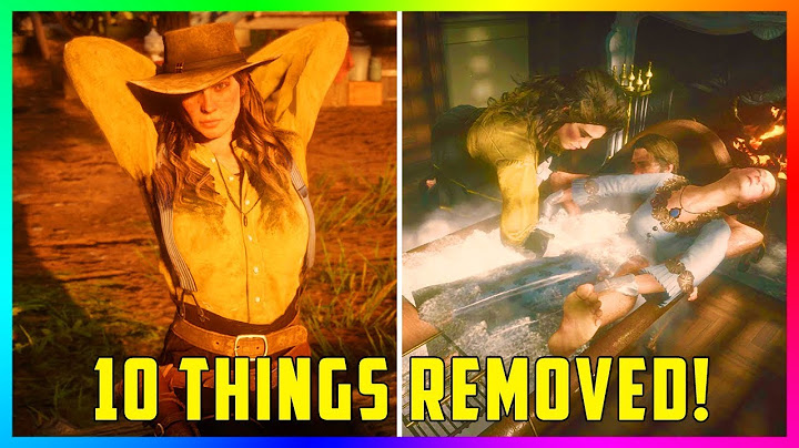 10 Things REMOVED From Red Dead Redemption 2! (RDR2)