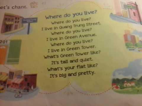 Bài hát : where do you live -  sách TA lớp 5 tập 1( tr10)