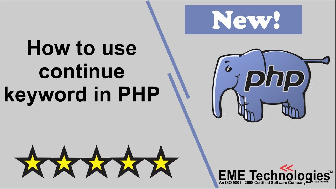 How to use continue keyword in PHP