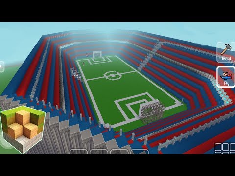 Block Craft 3D Mobile Gameplay -Football Stadium-