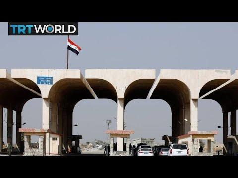 Nasib Border Crossing: Border crossing between Syria and Jordan opens