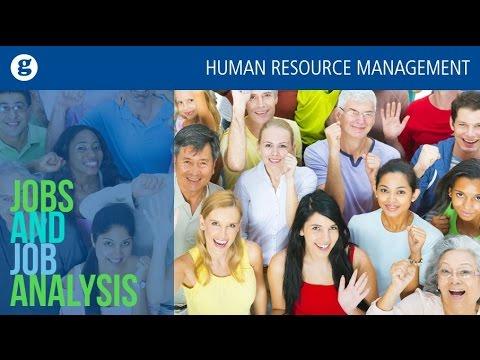 Jobs and Job Analysis