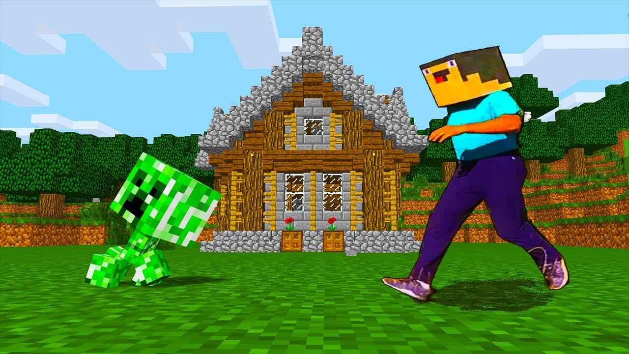 Minecraft Battle: NOOB vs PRO vs GIRL: CREEPER HOUSE BUILD