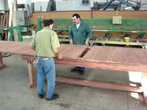 Tavolo allungabile da 3 5 a 6 5 metri youtube - Costruire un tavolo allungabile ...