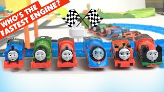 Thomas & Friends TURBO RACING with 3 Big World Big Adventures Track sets - Who