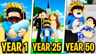 Raising BABY to ADULT to DEATH in Roblox BROOKHAVEN RP!!