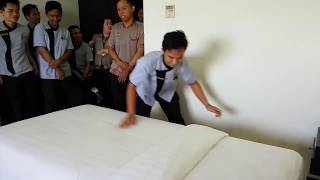Lomba making bed housekeeping Hotel Royal Victoria Sangatta Kaltim East Borneo