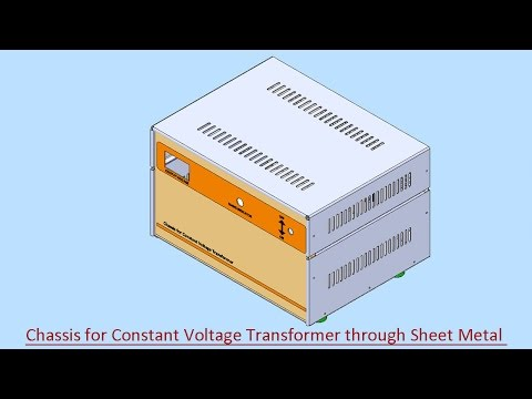 Chassis for Constant Voltage Transformer through Sheet Metal (Video Tutorial) SolidWorks
