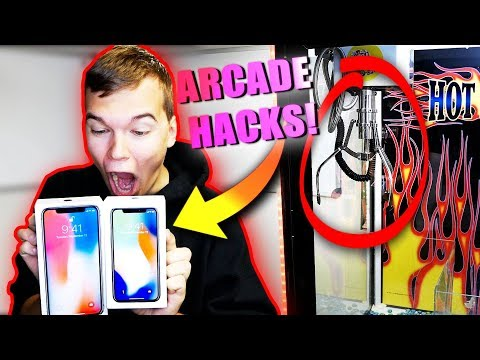 Won TWO iPhone X's from the Claw Machine! ARCADE HACKS