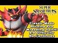 Super Smash Bros. Ultimate (Classic Mode 9.9 Intensity No Continues   Incineroar)