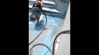 Dustless Blasting swimming pool
