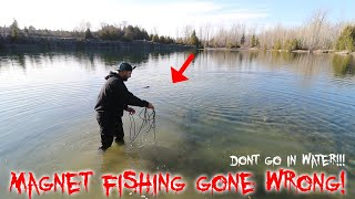 MAGNET FISHING IN THE HAUNTED QUARRY GONE WRONG!