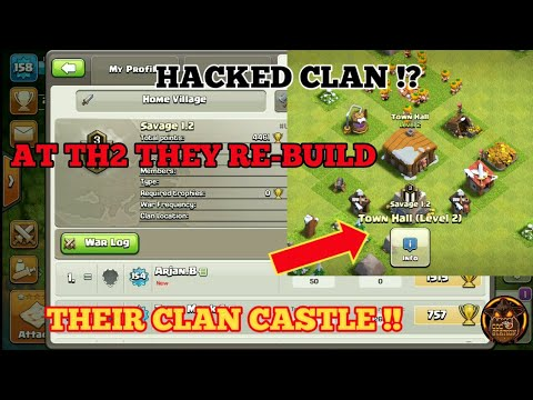 HACKED CLAN !!?  HOW THIS CAN POSSIBLE !? AT TH THEY ALL RE-BUILD THEIR CLAN CASTLE !  COC STATION.