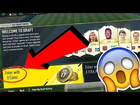FREE FUT DRAFT GLITCH!!!! 😱 UNLIMITED FREE FUT DRAFT TOKENS!!! - FIFA 17 FREE COIN GLITCH