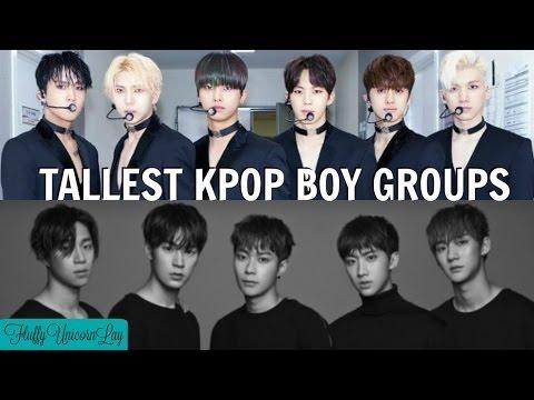 Tallest Kpop Boy Groups  TOP 31