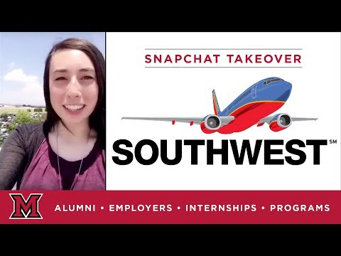 Sarah's Communications Internship For Southwest Airlines In Dallas, TX