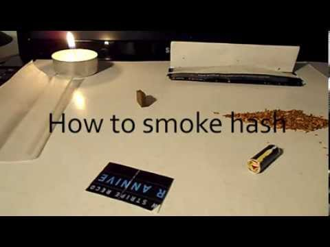 How to smoke HASH with bong - explained step by step