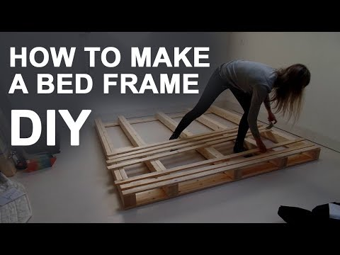 HOW TO MAKE A BED FRAME | DIY PLATFORM BED