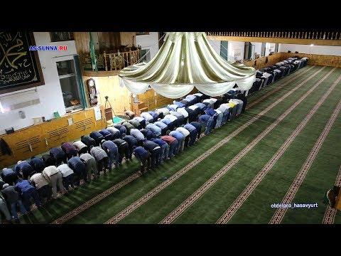 Утренный намаз в Центральной Джума мечети г.Хасавюрт