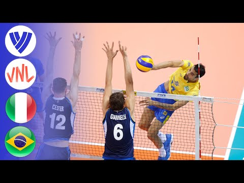 Italy Vs. Brazil - Full Match   Preliminary Round   Men's VNL 2018