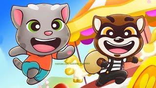 ГОВОРЯЩИЙ ТОМ БЕГ ЗА СЛАДОСТЯМИ #10 новый игровой мультик - ДРУЗЬЯ ОБНОВЛЕНИЕ Tom Candy Run